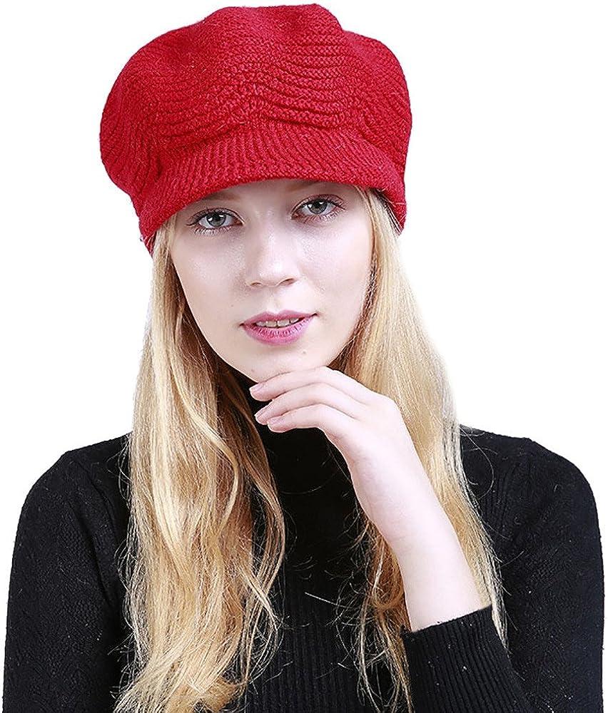 TWGONE Knit Cap Solid Warm...
