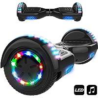 """Markboard Patinete Eléctrico 6.5"""" con Luces LED, Flash Ruedas, Cinco Estrellas con Bluetooth, Scooter Monopatín Auto Equilibrio"""