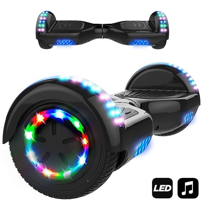 """6.5"""" Smart Monopattino Elettrico Autobilanciato con 2 * 350W Motore,Self Balance Scooter Skateboard con LED(nero)"""
