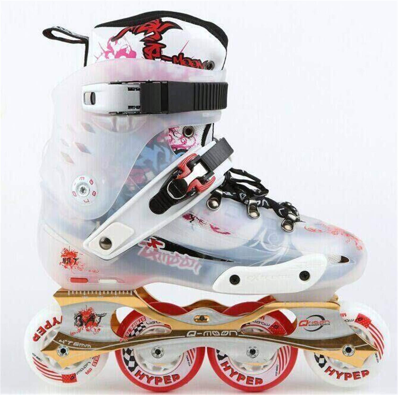 LNYF-OV Rollerskates 男女兼用 スポーツ アウトドア スケートボード スクーター インライン ローラースケート ティーンPu  Medium