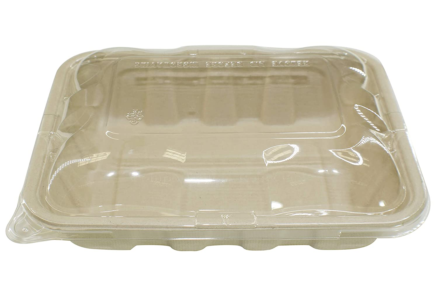 [100 SETS] 32oz Compostable Eco Friendly Container Trays with Lids - Deep Container made from Plant Fibers for Meal Prep Dinnerware Plates Catering Bento Boxes Takeout 100% by products