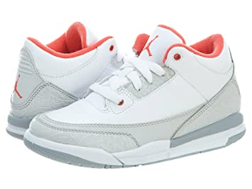 9d927647ead Amazon.com: Girls Air Jordan 3 Retro PS (2.5): Shoes