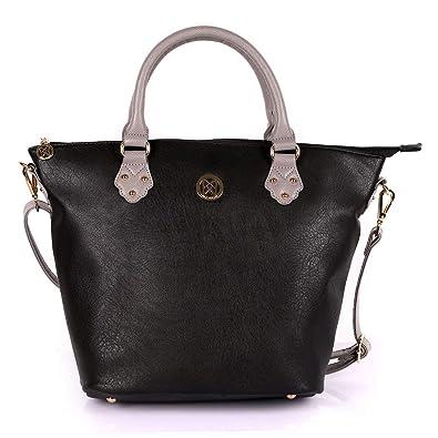 Karla Hanson Merry Women s Tote Bag - Black Grey  Handbags  Amazon.com fab6484af9dea