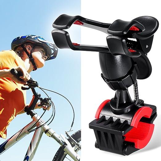 Soporte para bicicleta, Breett Base de soporte para bicicleta Agarrado en el manillar con clip para el smartphone iPhone 6 plus/6/5s/5/4S/4, dispositivos de ...