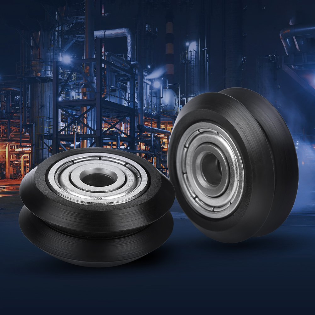 V Groove Bearings 20pcs V-shape Groove Wheel 5mm Bore 625 Bearing Pulley Accessori per stampante 3D CNC