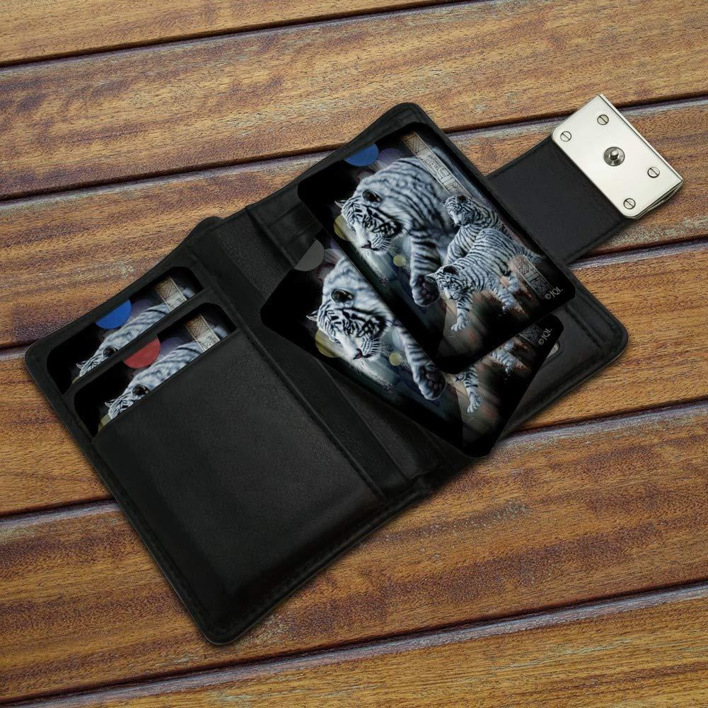 White Bengal Tigers Credit Card RFID Blocker Holder Protector Wallet Purse Sleeves Set of 4