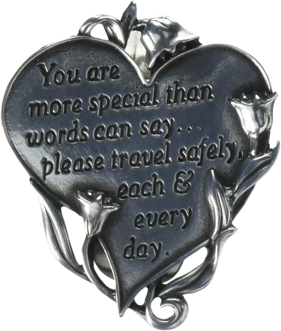 Cathedral Art Heart Visor Clip Never Drive Faster