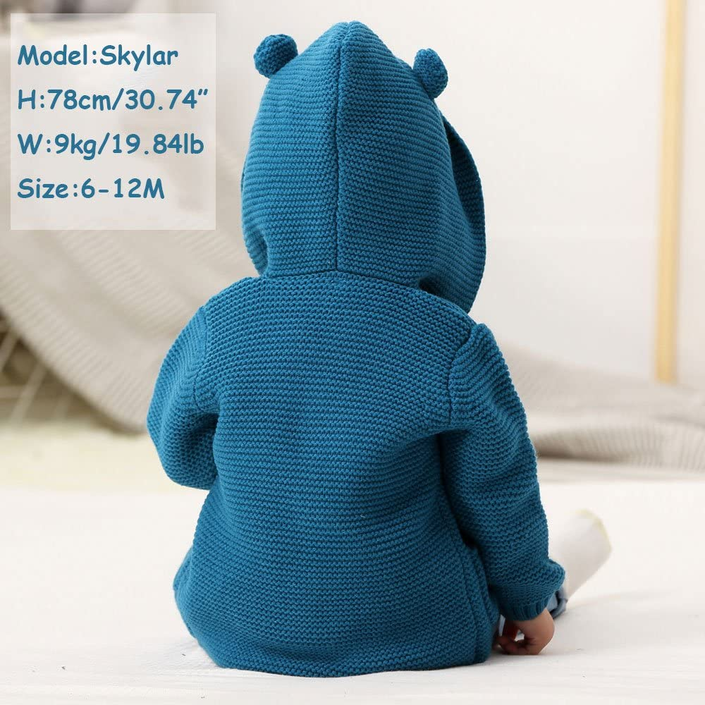 MMX Baby Kids Boys Long Sleeve Knit Cardigan Cartoon Hoodies Sweater Coats