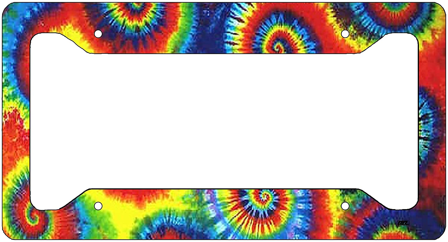 Rogue River Tactical Tie Dye License Plate Frame Novelty Auto Car Tag Vanity Gift VV247A