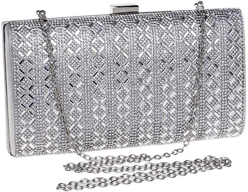 Clutches Bag for Women Ladies Evening Bag Handbag Prom Bag Purse for Cocktail Party Bridal Shoulder Cross-Body Bags (Color : A) A