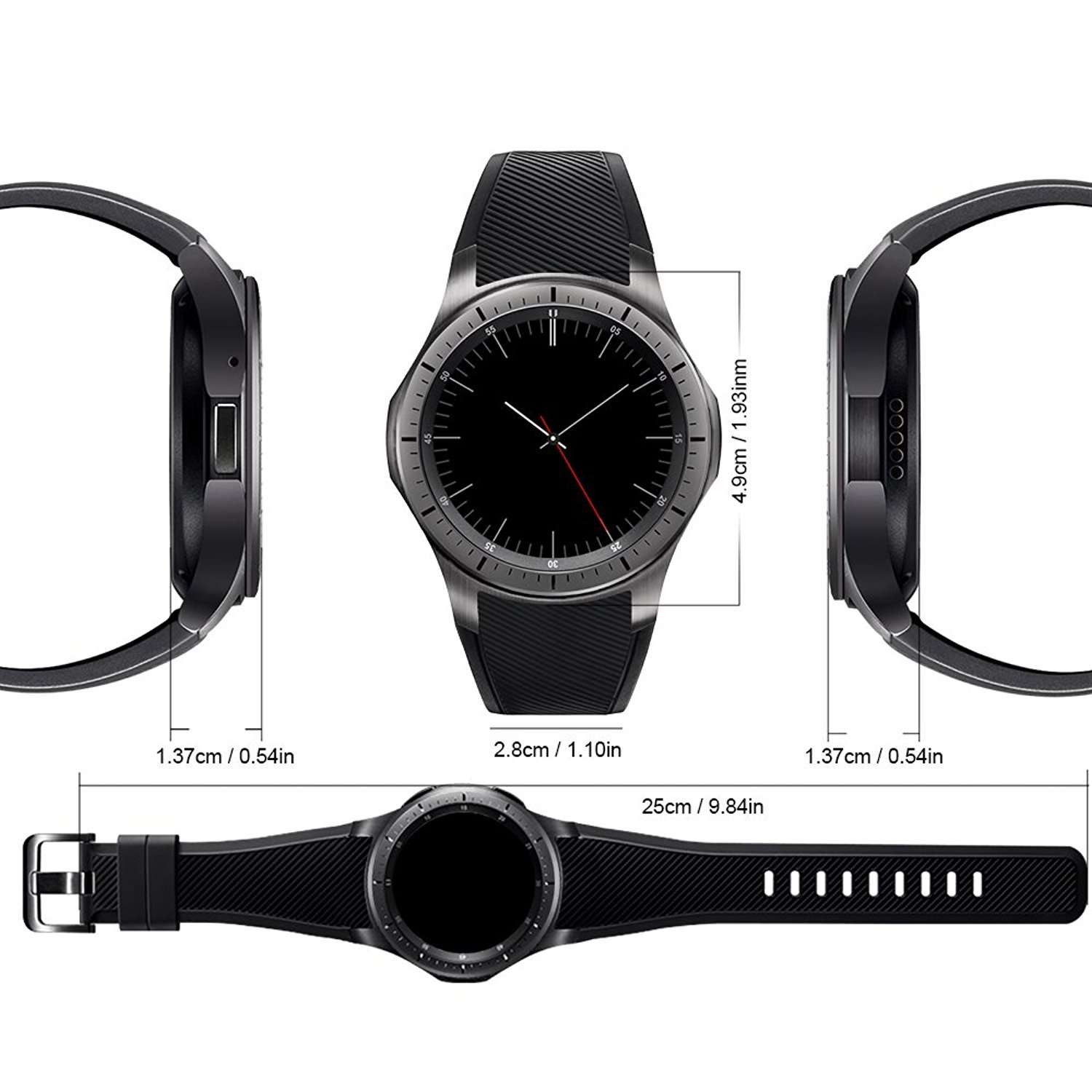 Amazon.com: LEMFO Smart Watch Phone 3G Android 5.1 OS ROM 8G ...