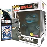 "Atomic Breath 6"" Godzilla by Funko, Bundled w/ a Godzilla Magnet & Blue Dragon Playing Cards from Bicycle"
