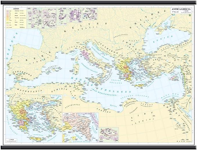 Cartina Geografica Antica.Antica Grecia V Secolo A C Carta Murale Storica 132x99cm Belletti Amazon It Cancelleria E Prodotti Per Ufficio