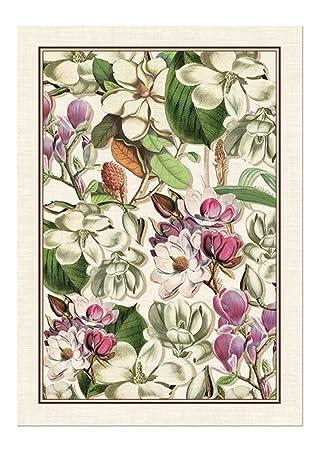 Marvelous Michel Design Works Magnolia Cotton Kitchen Towel, Purple