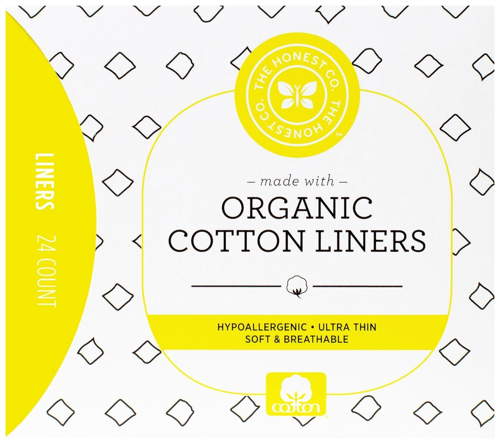 The Honest Company Organic Cotton Liners, 24 Count