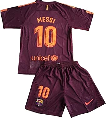 new arrivals 7b73d c2f12 TrendsNow New Messi #10 FC Barcelona 3rd Jersey & Shorts for Kids/Youths