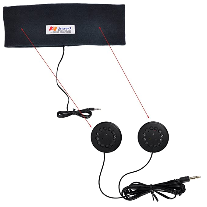 Tu necesitas con forro Polar acostando auriculares Música antifaz con altavoces integrados: Amazon.es: Electrónica