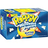 Poppin Microwave Popcorn Butter Flavour 4 Pk 400g