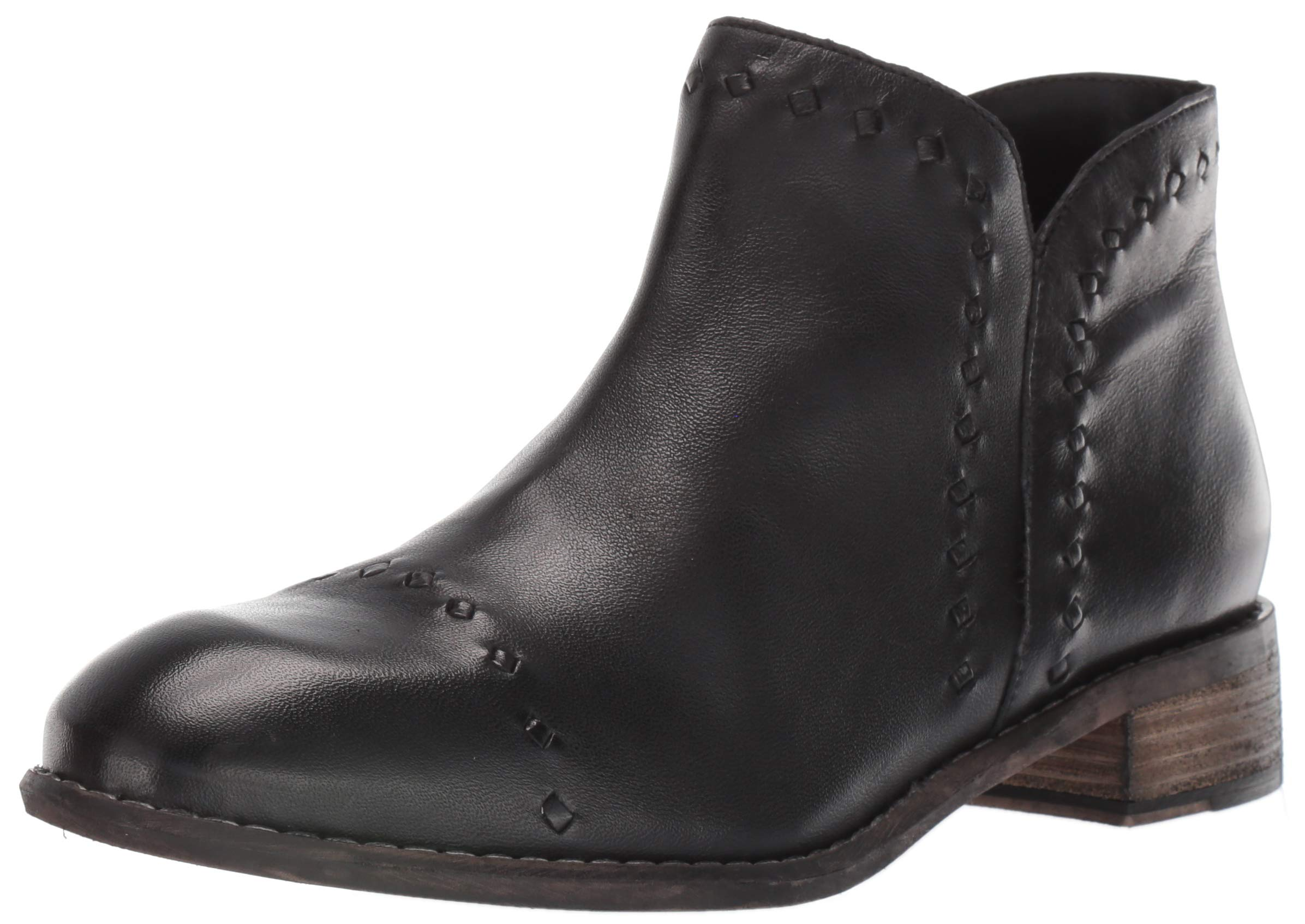 Skechers Women's Rue-Dominique-Smooth Oiled Leather Upper Zipper Side Ankle Boot