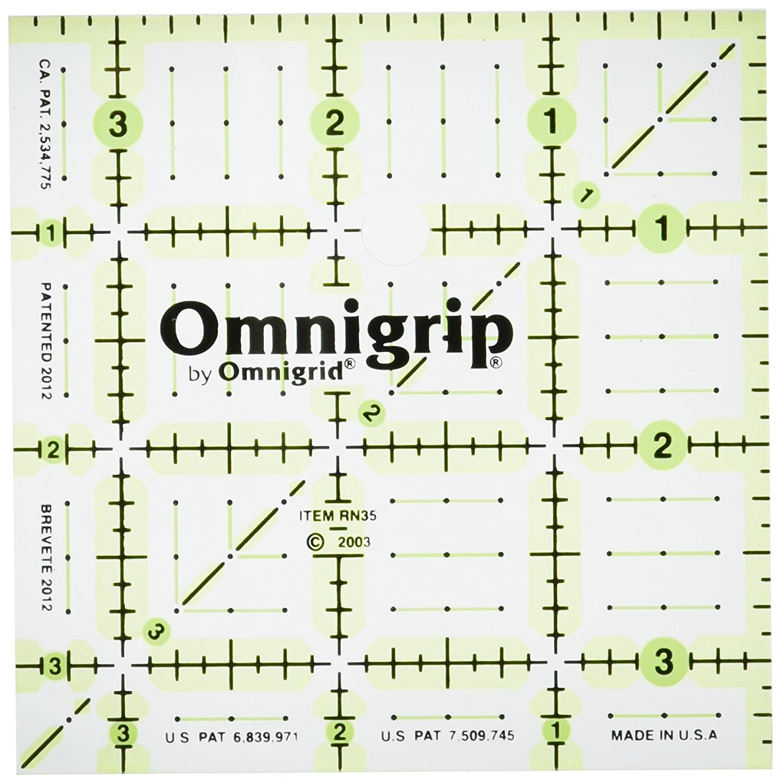 Omnigrid RA424 Omnigrip Ruler Protractor 4in x 24in Rulers /& Accessories 4 x 24