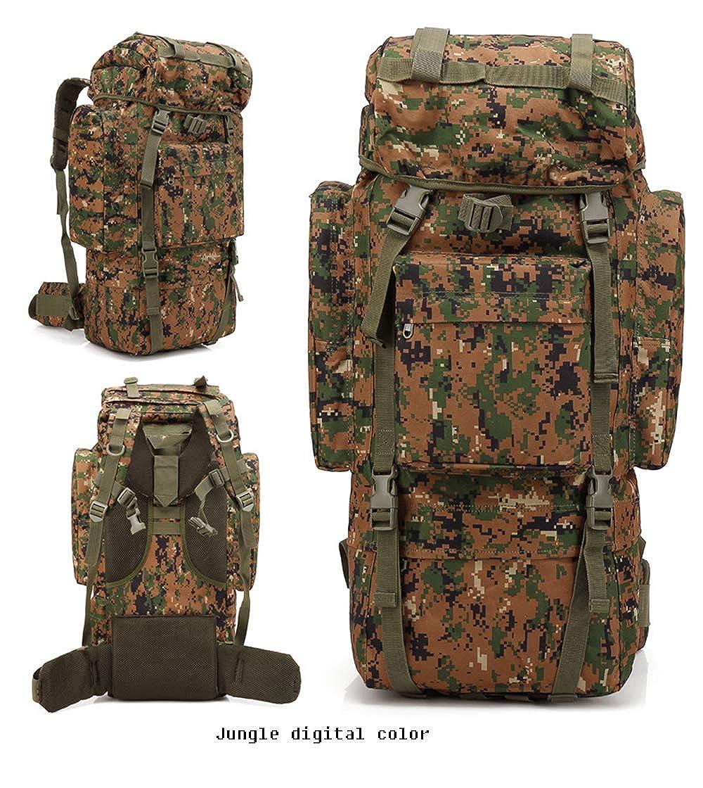 JunglefanCouleur  Sac d'alpinisme professionnel en plein air Sac de camouflage Grande capacité de voyage en plein air pour le camping, randonnée, sac à dos