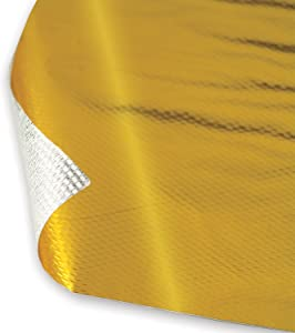 "Design Engineering 010393 Reflect-A-GOLD High-Temperature Heat Reflective Adhesive Backed Sheet, 24"" x 24"" Sheet"