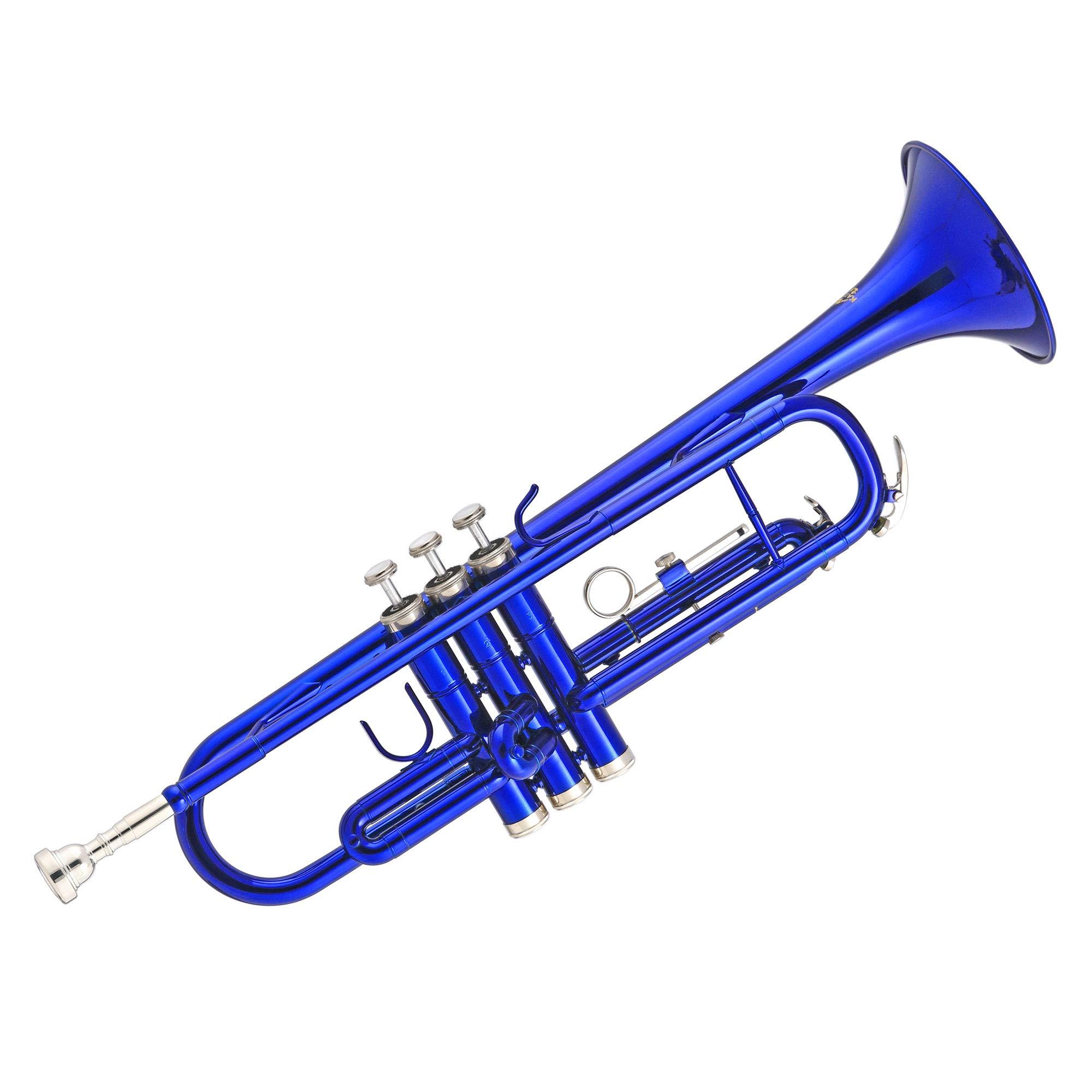 Kaizer TRP-1000BL Standard B Flat Bb Student Trumpet - Blue by Kaizer
