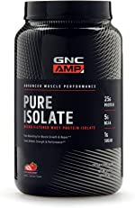 GNC AMP Pure Isolate - Strawberry, 28 Servings, 25 Grams of