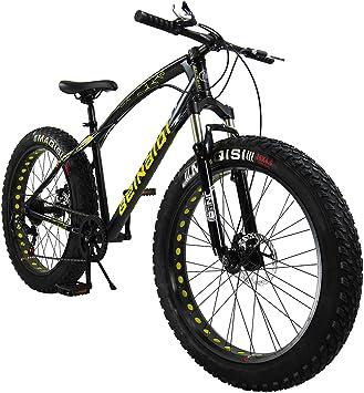 SAIGULA Bicicleta de montaña con llanta Grasa, 26 Pulgadas, 4 ...