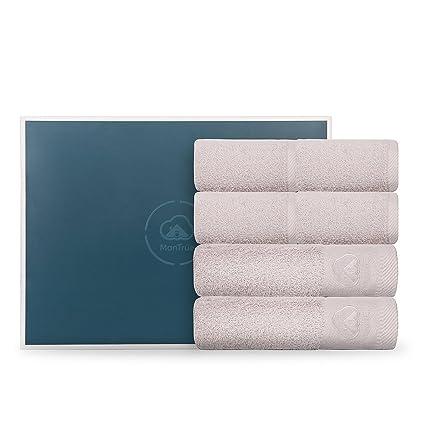 MonTrüe Conjunto de Toallas de baño de Hotel y SPA de Lujo 500 gsm, 100