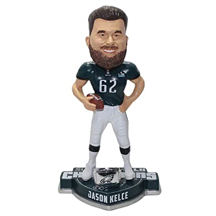 5c66a4127 Image Unavailable. Image not available for. Color  FOCO Jason Kelce  Philadelphia Eagles Super Bowl LII Champion Bobblehead Bobblehead