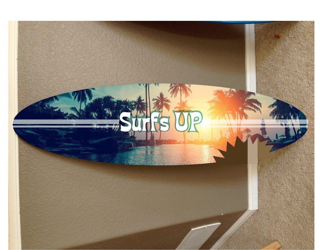 4' wall hanging surf board surfboard decor hawaiian beach surfing beach decor