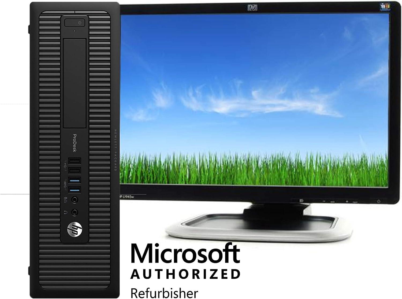 HP Desktop 600 G2 Computer Intel Quad Core i5-6500 3.2-GHz, 16GB Ram, 1 TB, with 19in LCD Monitors, DVD, WiFi, Windows 10 (Renewed) …