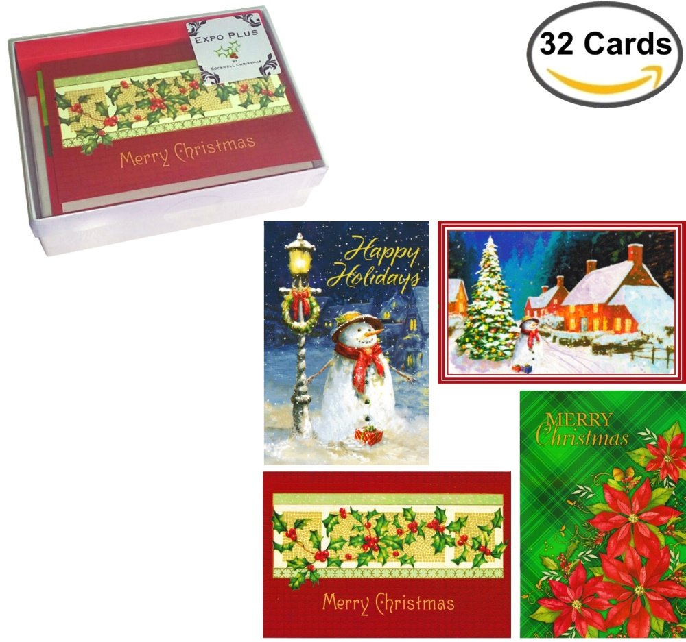 Amazon 32 Traditional Boxed Christmas Cards Assortment Of