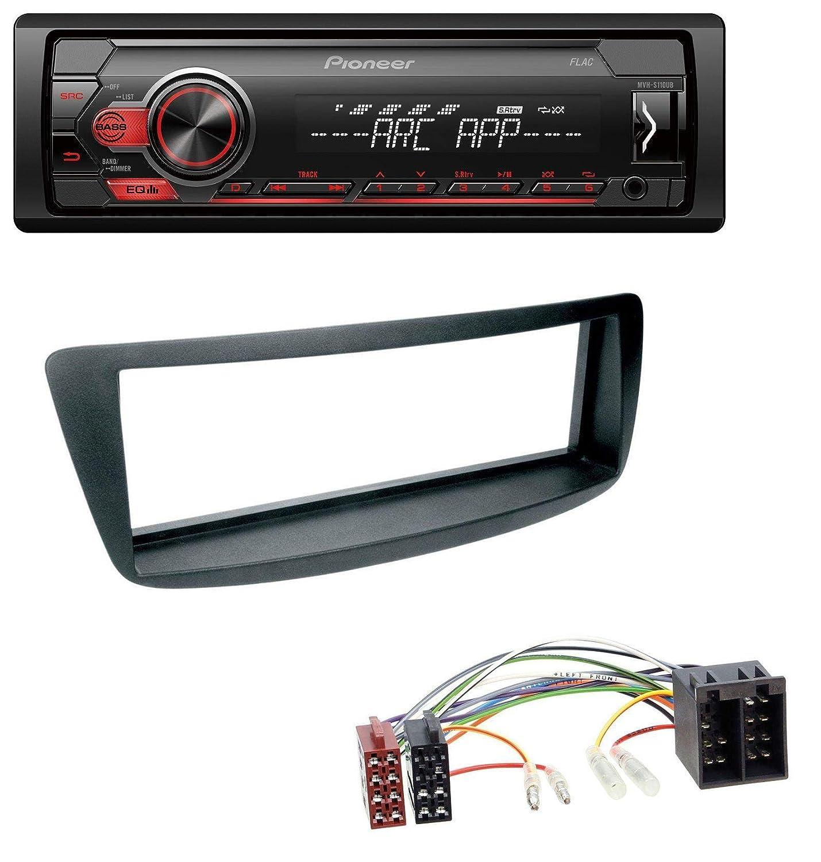 05-14 caraudio24 Pioneer MVH-S100UB USB AUX MP3 1DIN Autoradio f/ür Citroen C1 Peugeot 107