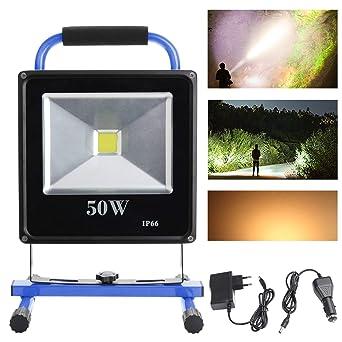 Vert Lampe Vingo De Ip65 Et Avec Projecteur À 50 Travail Fsders Batterie Blanc Chaud Led W doeCxB