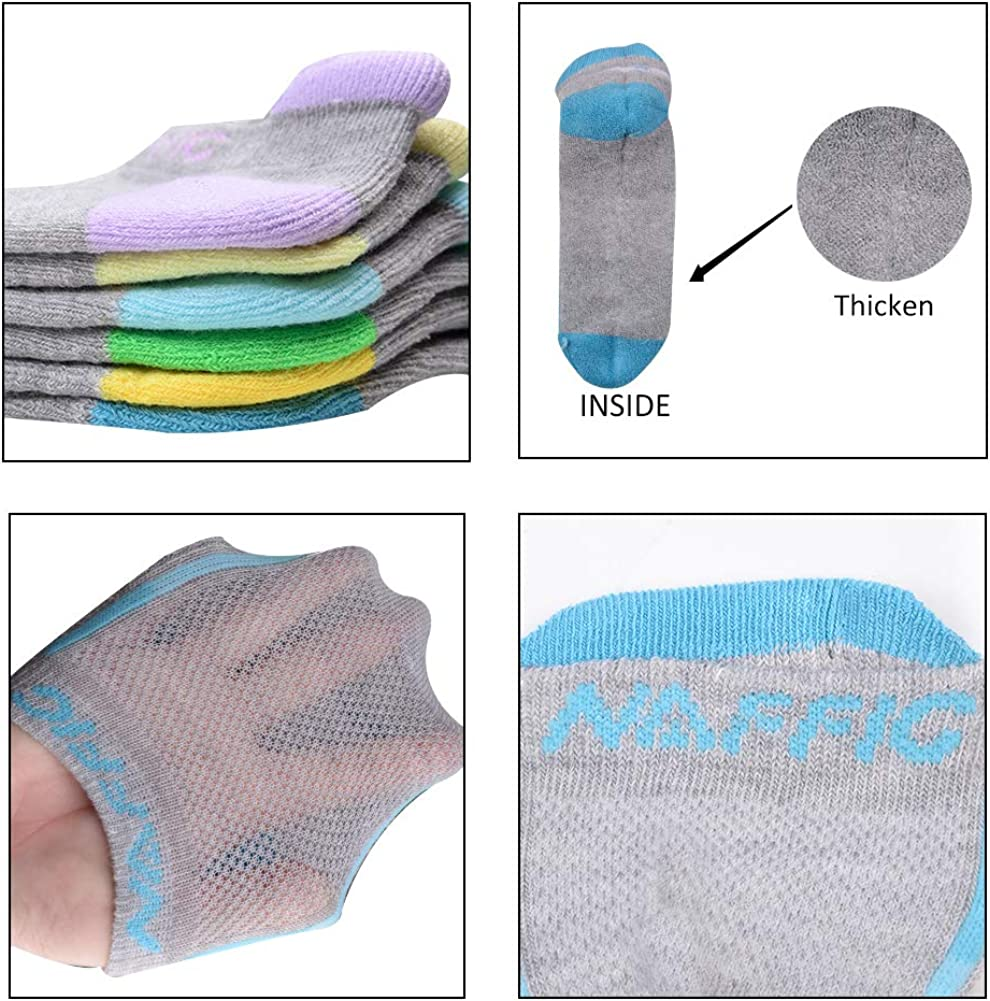 Womens Fashion Ankle Athletic Socks Low Cut No Show Cushion Breathable Socks 6 Pairs