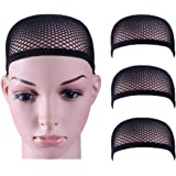 3 Pack Dreamlover Close End Fishnet Wig Caps, Thicker and Strong Nylon Thread, Durable and Breathable