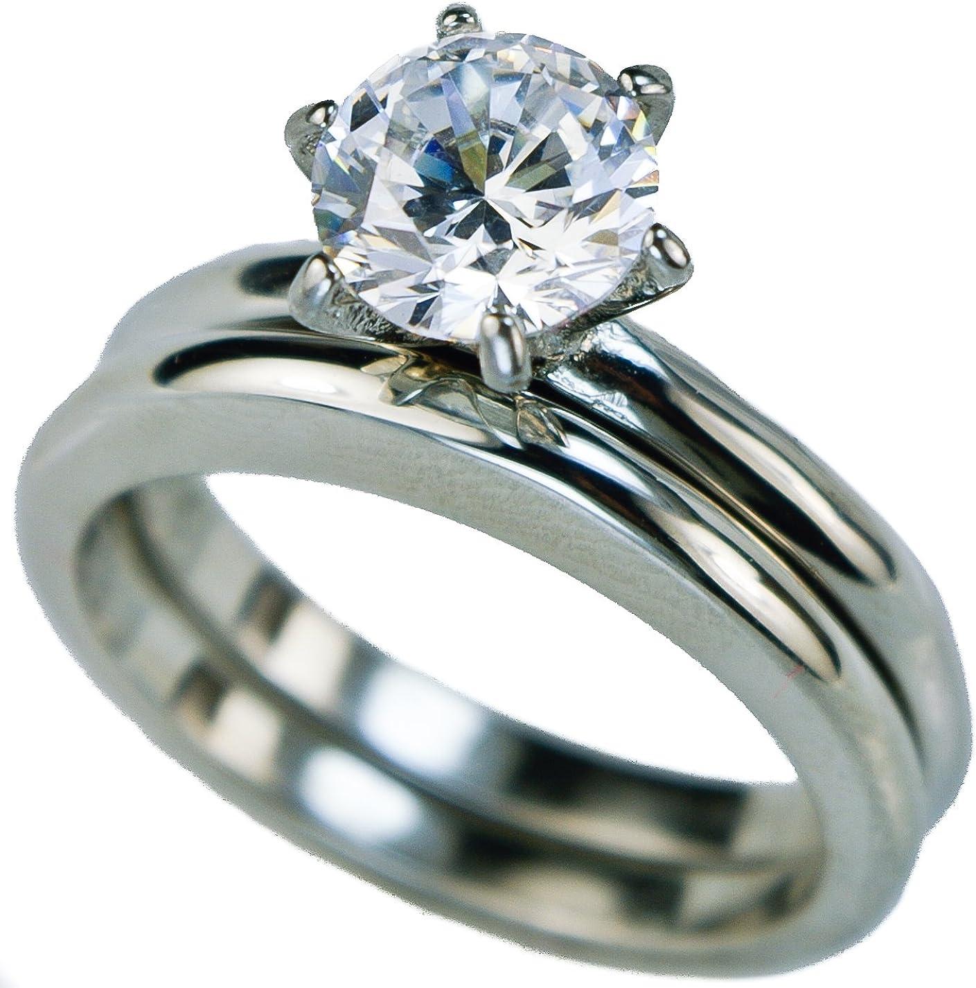7 Gemini His /& Hers Groom /& Bridal Matching Titanium Anniversary Wedding Band Ring Set 6mm/&4mm Men Ring Size 11 Women Ring Size