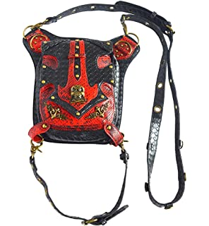 Steelmaster Femmes Steampunk Pu En Cuir Taille Sacs Gothique Sac ¨¤ Bandouli¨¨re Jambe Cuisse Holster Sac Messenger sac pour Ext¨¦rieur