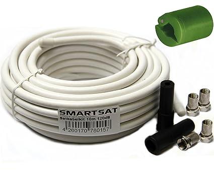 Smartsat 10 m SAT-conexión-Kit, SAT-Cable 4 x F-