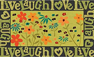 product image for Apache Mills Masterpiece Live Love Laugh Wildflowers Door Mat, 18-Inch by 30-Inch