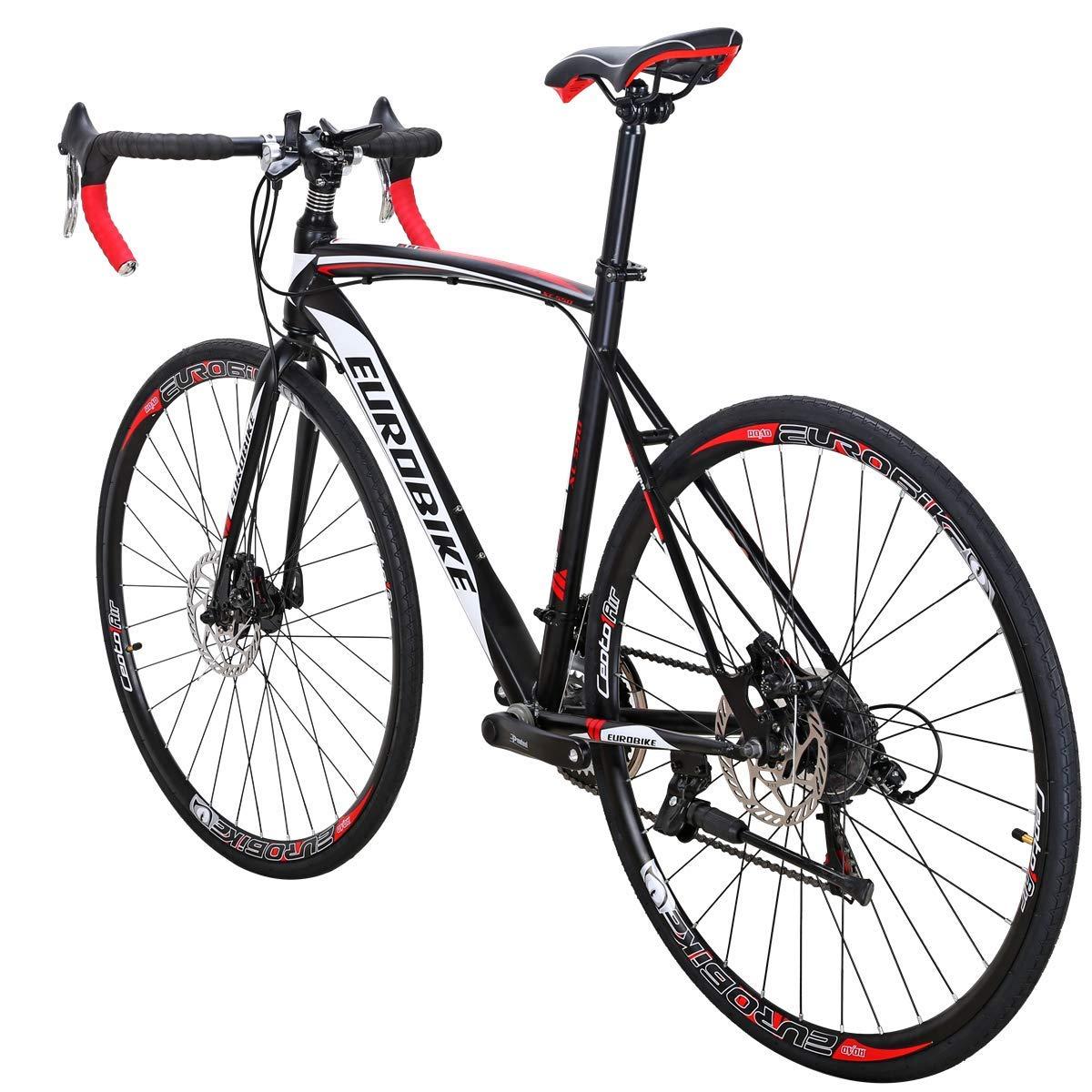 EUROBIKE ロードバイク EURXC550 21 スピード 49 cm フレーム 700C ホイール ロード 自転車 デュアルディスク ブレーキ 自転車 54 Black-white 30 B07H7DMJ1C