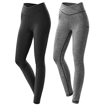 dfeaa5ef23df2 Womens Workout Leggings Compression Yoga Pants with High Waist Streamlined  Design Fitness Sports Gym Running Pants