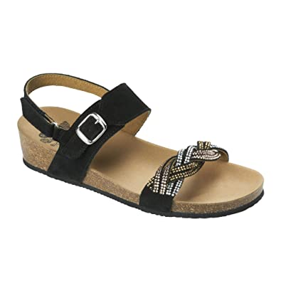 Evelyne Scholl Taille Sandal Noir Chaussures 39 O80knwP