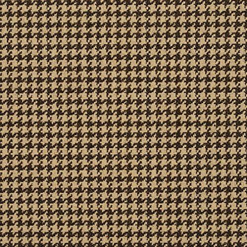 E857 Beige Classic Houndstooth Jacquard Upholstery Fabric By The Yard (Upholstery Houndstooth Fabric)