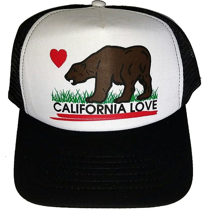 Amazon.com  Adult California Love Mesh Trucker Hat Cap Snapback ... 58ca236b439