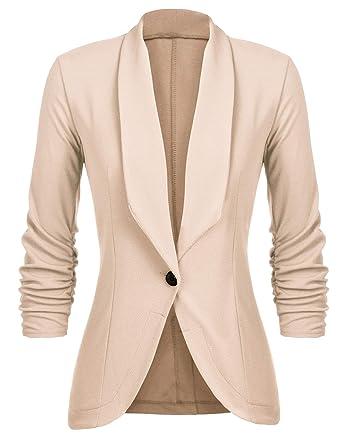 8fa8d35e9b8bf2 Unibelle Damen Blazer Cardigan Dünn 3 4 Längere Elegant Leicht Bolero Jacke  Blazer Slim Fit Anzug Trenchcoat  Amazon.de  Bekleidung