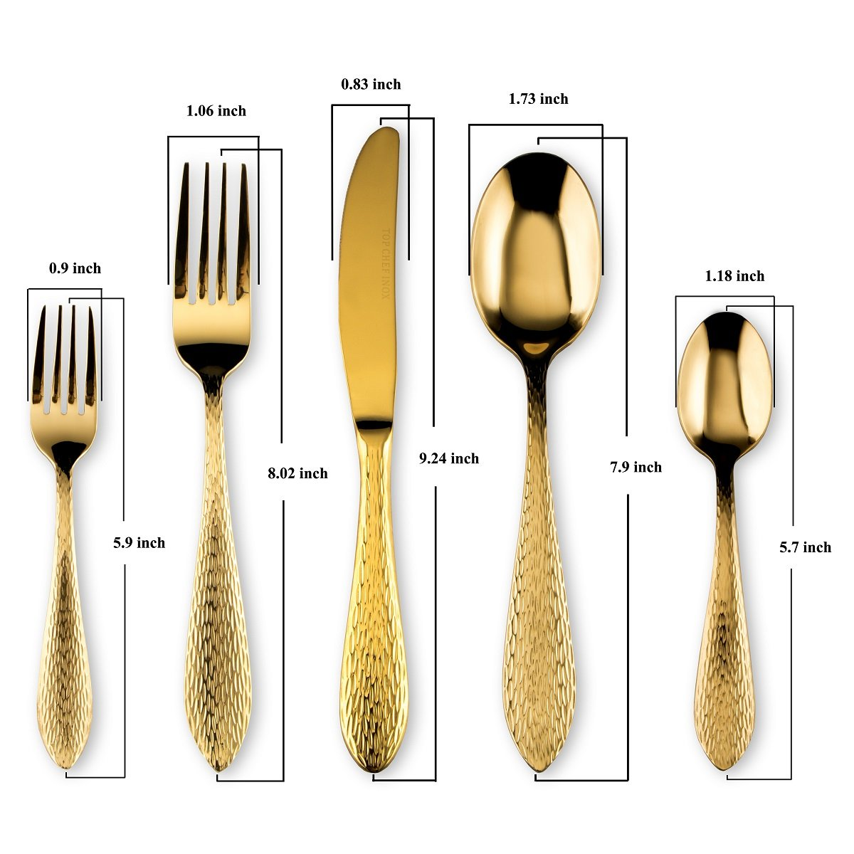 Amazon.com | Flatware Set 20 Pieces Modern Gold Plated Stainless Steel, Service for 4, 18/0: Flatware Sets