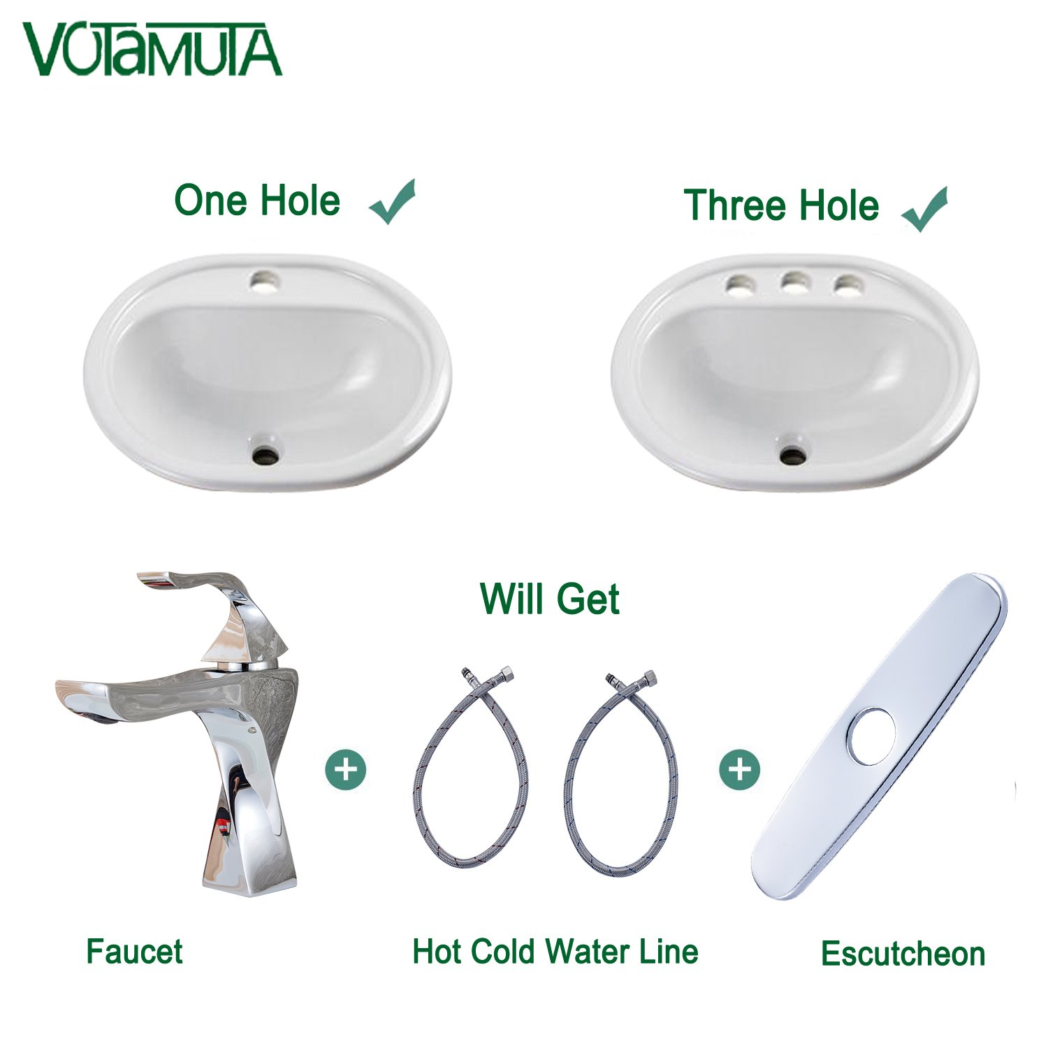 Votamuta Waterfall Spout Single Handle Bathroom Sink Vessel Faucet Mixer Tap Lavatory Faucets Tall Body Brushed Nickel with Pop Up Drain VO080102